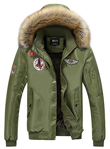 Willlly Heren winterwarme dikke piloten chic casual bomber met capuchon jassen mannen Ntel Air Force patches belangrijke badge patch waterdicht heren capuchon Coat Parka