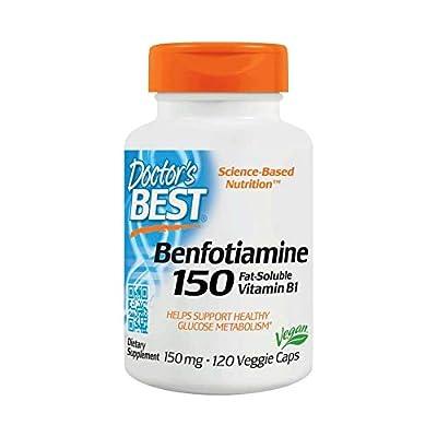 Doctor's Best Benfotiamine 150mg, 120 Vegetarian Capsules from Doctor's Best