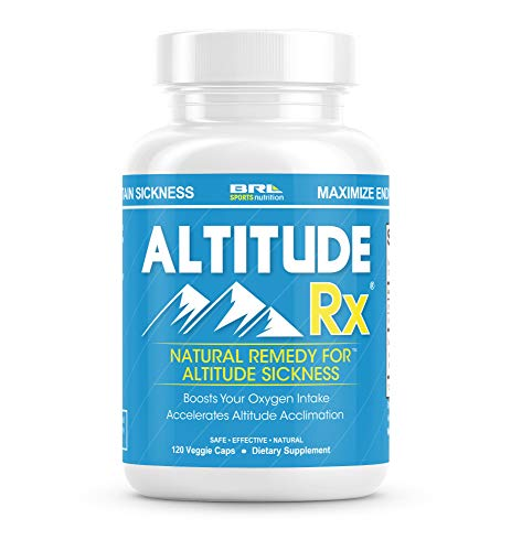 Altitude Rx OxyBoost Complex - Altitude Sickness Relief for Ski or Mountain Trips with Vitamin C, Alpha Lipoic Acid and Rhodiola (120 Vegetarian Caps)