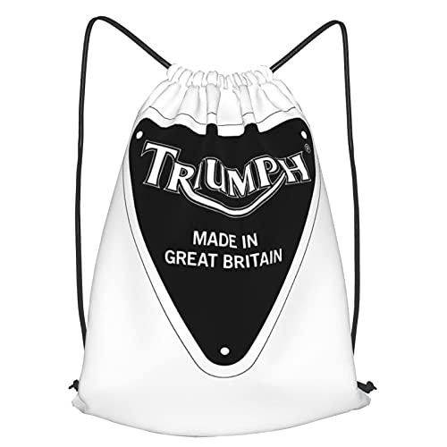 Triumph Moto Borse Con Coulisse Leggero Uomo E Donna, Nero , M