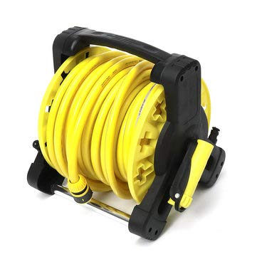 RanDal 20M Garden Hose Reel Cart Spraying Cord Storage Standing Holder Outdoor - #2