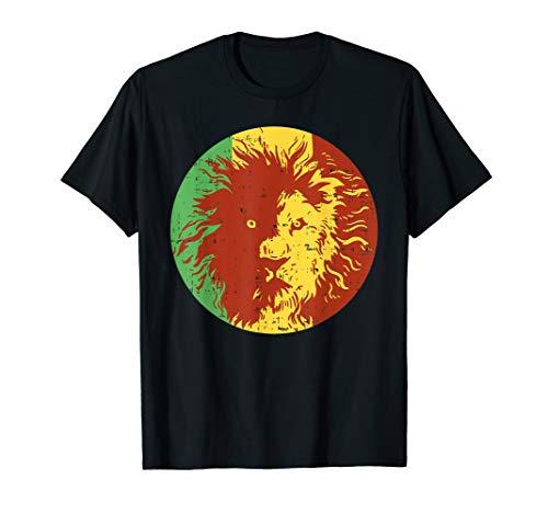 Reggae Lion Shirt Jamaica Rasta Weed Smoker Marijuana Stoner T-Shirt