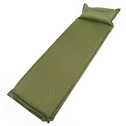 Air Mattress Outdoor Inflatable Sleeping Mat By Camping Mattress Inflatable Mat Compact And Moistureproof For Hiking Backpacking Hammock Tent Inflatable Bed ( Color : Green , Size : 188*65*5cm )