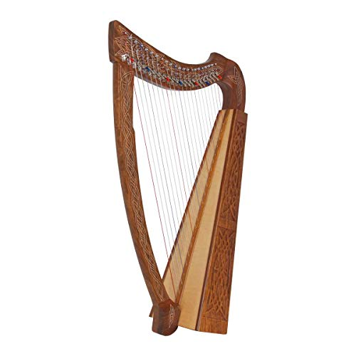 Roosebeck 22-String Heather Harp w/Full Chelby Levers - Knotwork
