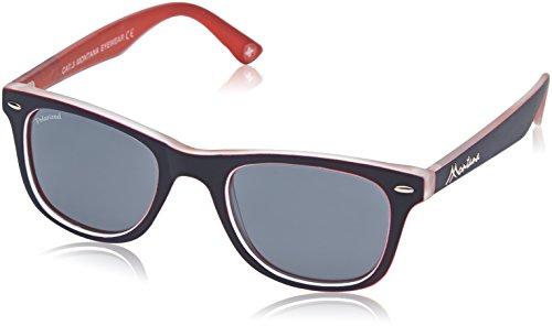 MONTANA MP41 Gafas, Multicolor (azul/rojo/lentes ahumadas), Talla única Unisex Adulto