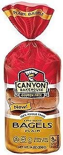 Canyon Bakehouse Gluten-Free Presliced Plain Bagels (4 Bagels Per Pack)