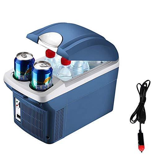 LEILEI Mini refrigerador de Coche de 8.5 litros Nevera Refrigerador eléctrico portátil Caja Calentador Congelador con Correa para el Hombro para Acampar al Aire Libre Picnic Travel