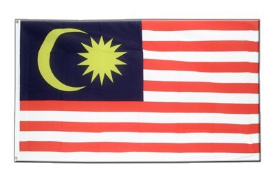 Malaysia Flagge, malaysische Fahne 90 x 150 cm, MaxFlags®