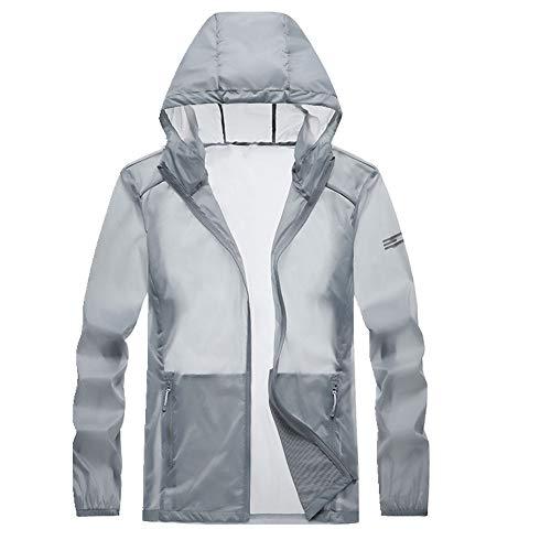 Sun Proof Clothing Herren Hautbekleidung Outdoor Sport im Sommer Ultra Gr. XX-Large, Grau 1