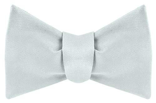 Platinum Hanger Platinum Hanger Herren S Klassische Pre Gebundene Satin Formale Smoking Bowtie Verstellbare Länge Vielzahl Farben Erhältlich, White-