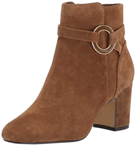 Bella Vita Women's Ankle Boot, Cognac Suede Leather, 10