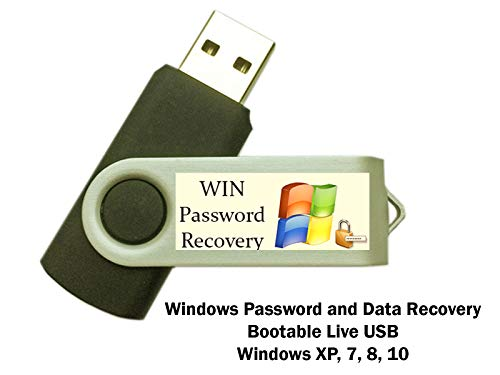 Computer IT Windows Password Cracker Reset Data and System Recovery Tool Live Bootable Boot USB Flash Thumb Drive for PCs - Forgot Your Password? This is for You!