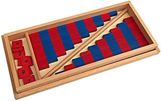 Montessori Small Number Numerical Rods with Number Tiles
