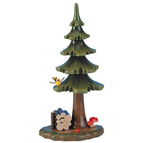 Small Figures und Ornaments Sommerbaum mit Holzstapel - 16cm - Hubrig Volkskunst