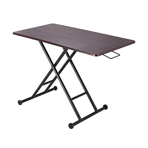 Tables CJC, Pliant Portable Côté Collation Canapé Dîner Imprimante Supporter, Camping Famille Pique-Nique Ajustement Ascenseur (Couleur : Noir)