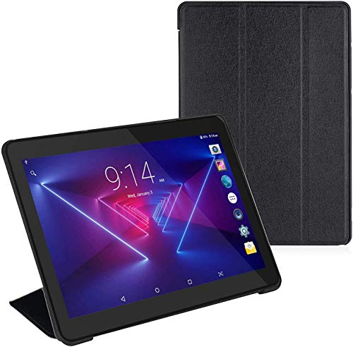 Tablet 10 inch + Protective Cover, Android 8.1 Go, 10.1' 5G WiFi Tablets,6000mAh Battery,Quad-Core Processor, 800x1280 Touch Screen Full HD Display,1.3GHz,16GB, Bluetooth,Black