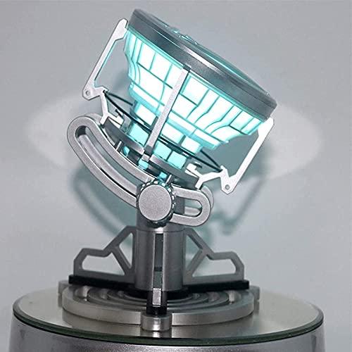 WXHJM Avengers Tony Iron Man Reactor de Arco MK6,Hecho A Mano Control Remoto Adornos Emisores de Luz,Flash LED Reactor de Arco Pecho Modelo Cofre DIY,MK6