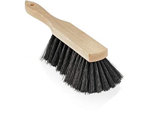 Leifheit Handfeger aus Holz, robuste Bürste für Drinnen und Draußen, Outdoor Handkehrer für Laub, Schnee oder Grobschmutz, Handbesen mit starken und langen Kunststoffborsten für jede Ecke