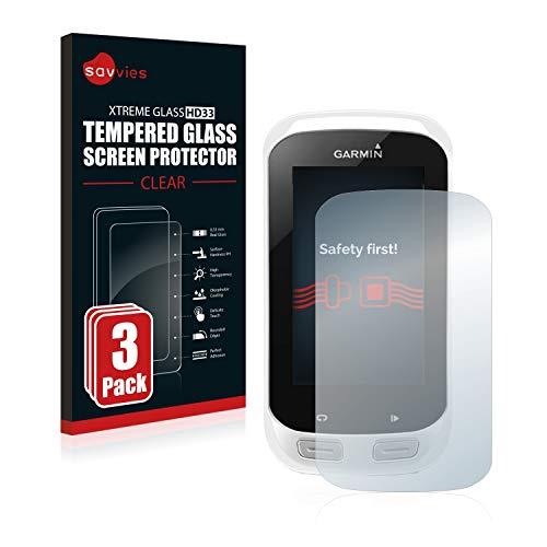 savvies Protector Cristal Templado Compatible con Garmin Edge Explore 1000 (3 Unidades)...