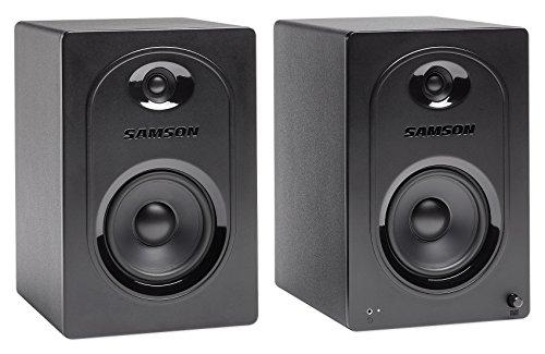 Samson MediaOne BT3 Aktiv-Studio-Monitore mit Bluetooth Standard 5-Inch schwarz