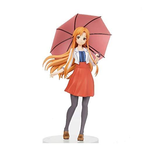 Anime Sword Art Online To Love Ru lala Yuuki Asuna Vrijetijdskleding An Umbrella Ver. PVC Action Figure Collectible Model Toys