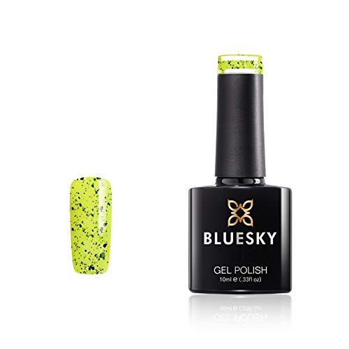 Bluesky Vernis Gel Semi Permanent Cure sous Lampe UV/LED Tropical Twist Jaune Vert Noir Néon 10 mL