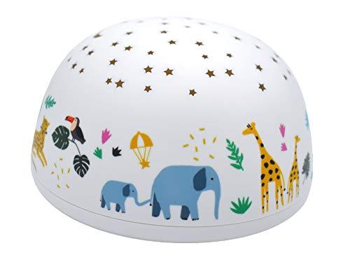 Olala - Projecteur d'étoiles musical - Sirius - Veilleuse nomade LED - bébé & enfant - 4 couleurs - 5 mélodies - Pile 3xAAA - Dès la naissance