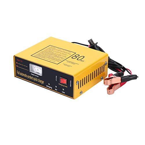 ACEHE Cargador de batería de Coche, Cargador rápido de protección automática Completa 6V / 12V 80AH 140W Cargador de batería de Coche Inteligente automático Pulso Negativo