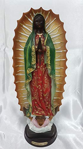 El Sendero, Sano y Natural Imagen Virgen Guadalupe (Mexico) Pintada a Mano 15cm Alto