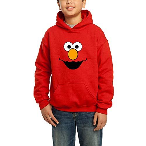 Desconocido Happy Elmo - Sudadera roja con Capucha para niños (12-13)