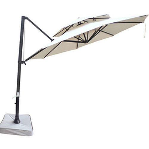 Garden Winds Southern Patio Two-Tiered Umbrella Replacement Canopy Top Cover - Will ONLY FIT Model Number - UMB-473522
