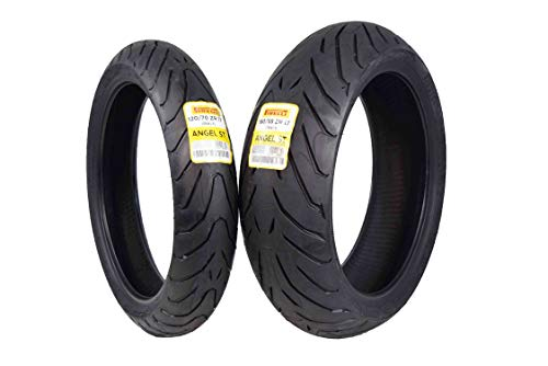Pirelli Angel ST Front & Rear Street Sport Touring Motorcycle Tires (1x Front 120/70ZR17 1x Rear 180/55ZR17)