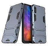 Anti-Schock Hülle für Xiaomi Redmi 9A / Redmi 9AT Standfunktion Kratzfeste Handyhülle Stoßfeste Doppelschichter Schutzhülle Bumper Hülle Cover Shock Absorption (Xiaomi Redmi 9A / Redmi 9AT, Marineblau)