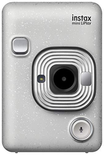 FUJIFILM チェキ インスタントカメラ スマホプリンター instax mini LiPlay ストーンホワイト INS MINI HM1 STONE WHITE