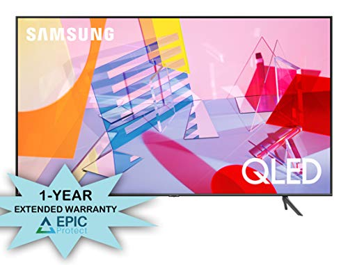 Samsung QN50Q60TA 50' Ultra High Definition 4K Quantum HDR Smart QLED TV with a 1 Year Extended Warranty (2020)