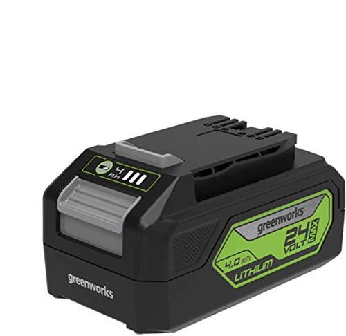 Greenworks Tools Batteria G24B4 di 2a generazione (batteria ricaricabile agli ioni di litio 24 V 4,0 Ah potente e ricaricabile adatta a tutti i dispositivi della serie Greenworks Tools 24 V)