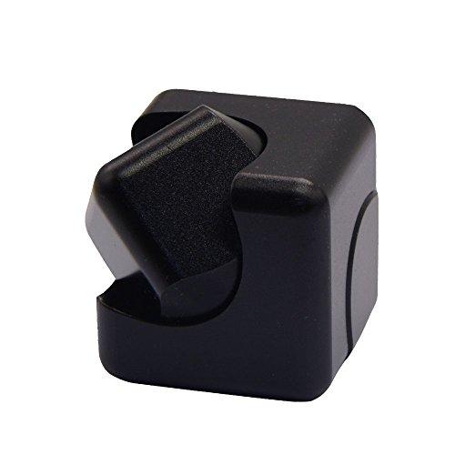 最新版 Fidget cube ハンドスピナー 指スピナー アルミ製 cube spinner キューブ ブロック 指先独楽 ウィジェット フォーカス玩具 高速ベアリング 指先ジャイロ (黒)