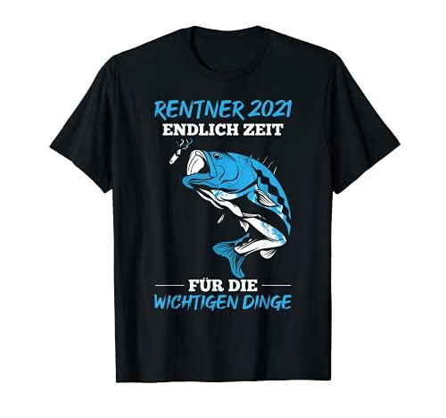 Herren Rente 2021-Rentner Endlich Zeit zum Angeln für Angler T-Shirt
