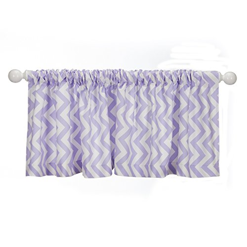 Sweet Potato Swizzle Window Valance, Purple/White