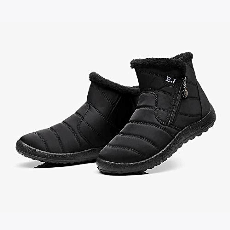 QDL1 KHTAA Plus Size Women's Warm Ankle Snow Boots Fur Winter Flat Platform Zipper shoes Ladies Waterproof 2018 Fashionable Female Footwear