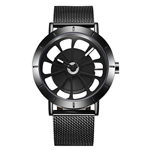 Orologio da uomo Reloj Ultra Delgado para Hombre, Reloj de Cuarzo Impermeable para Hombres con Banda de Malla de Acero Inoxidable Reloj mecánico (Color : A)