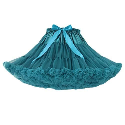 Pengniao Falda Tutu Mujer Tutú Faldas de Tul Cortas Falda Tul Disfraz Volantes Fiesta Corta para Bodas Disfraces con Tutu Ballet Tutus Adulto Enaguas para Vestidos Pollera de Tul Capas Enagua
