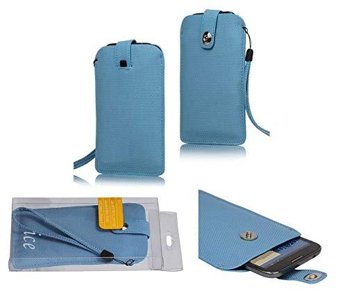 DFVmobile - Etui Tasche mit Texturierter mit Rausziehband& Magnetverschluss fürUMi Hammer S - Blau
