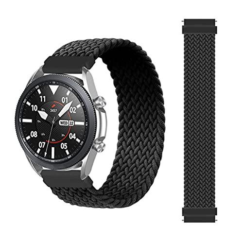 Sport Solo Loop Band Compatible para Samsung Gear S3 Frontier / S3 Classic / Galaxy Watch 46 mm, 22 mm Pulsera de repuesto Correa de reloj deportiva ajustable Compatible para Galaxy Watch 3 45 mm