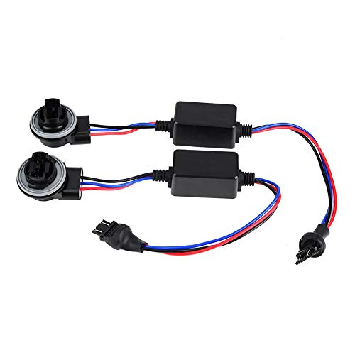 Dekoder reflektorów 3157 LED urządzenie do dekodowania reflektorów zapobiegające migotaniu bez rezystora błędu dekoder 1 para zastępczy aut anulowanie błędów ostrzeżenie o błędzie