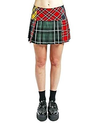 Tripp Multi Plaid Punk Pleated Skirt