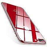 ZWWZ Funda Transparente para iPhone 7,Funda para iPhone 8,[Anti-Amarillo] Funda Protectora de Gel Suave Reforzada Delgada Delgada para teléfono a Prueba de Golpes - Pure Clear