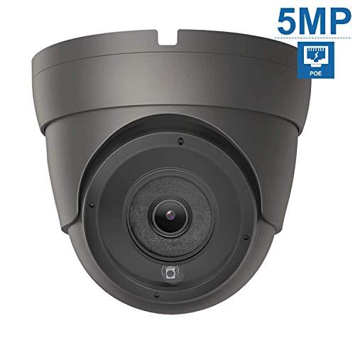 Anpviz CCTV 5MP PoE-Kamera, IP-Überwachungskamera mit integriertem Mikro, IP66 wasserdicht für den Außenbereich, Bewegungserkennung