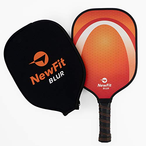 NewFit Blur Pickleball Paddle - USAPA Approved Premium Pickleball Paddles - Graphite Face & Honeycomb Polymer Core for a Quiet and Light Pickleball Racket