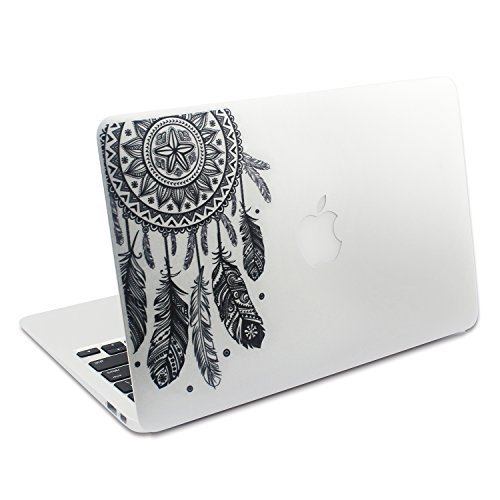 Easy Gift Dream Catcher Decal Removable Vinyl MacBook Decal Sticker Decals Skin with Precision-Cut for Apple MacBook Air MacBook Pro Mac Laptop 13 15 Inch Indiana